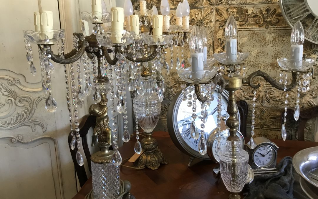 Crystal Chandelier Table or Bedside Lamps
