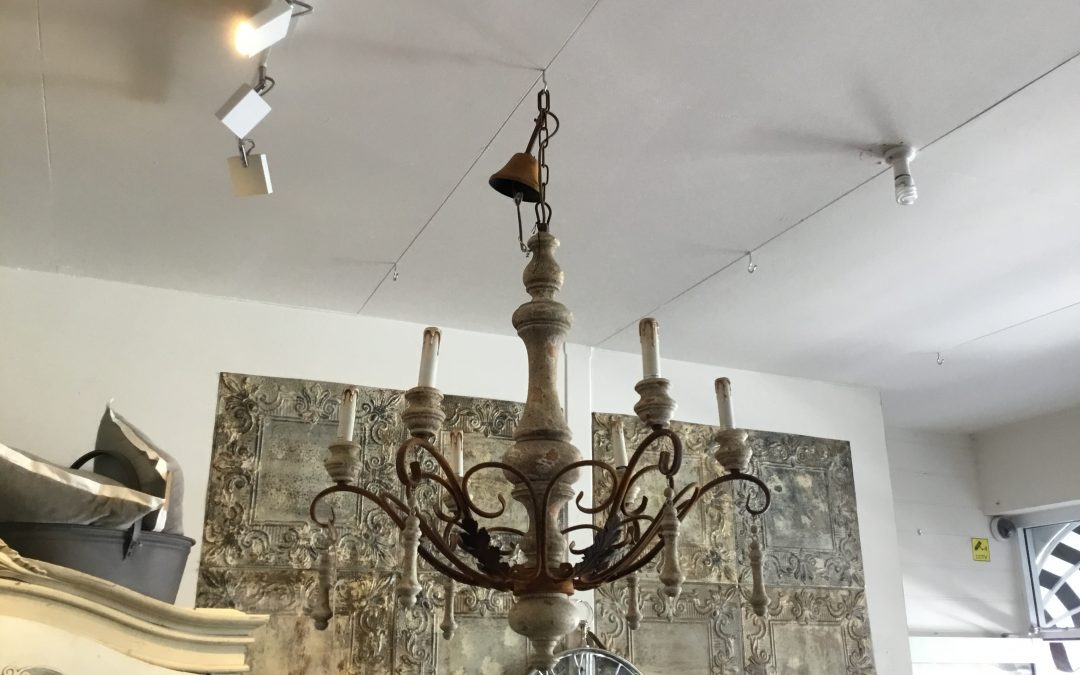 Iron and Timber French Style Chandelier  $1295