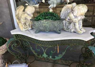 Marble and Iron Console Table  $1295