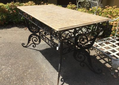 Marble and Iron table $1795
