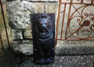 Cast Iron Lion Panel $395