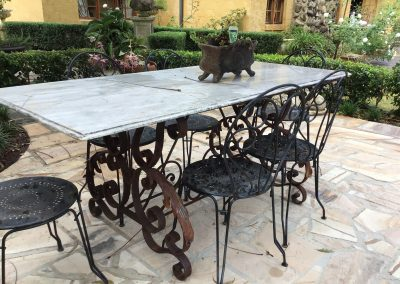 Marble and Iron Outdoor Table $2295