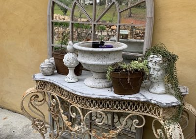 Marble and Iron Console Table $1495