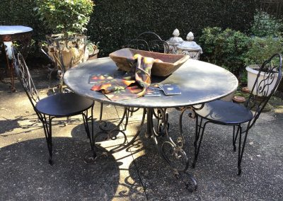 Round Scroll Leg Outdoor Table $799