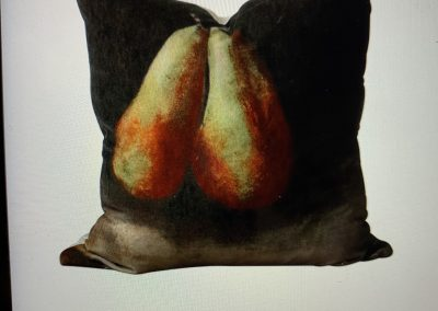 Velvet Cushion Pear Design $99.00